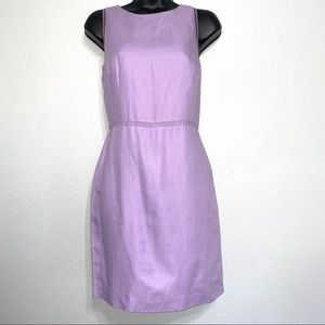 Ann Taylor Embroidered Detail Purple Dress